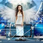 数学に囲まれた天使